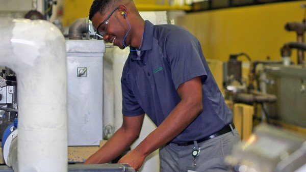 Manufacturing Group Engineer Jay Cole working in Schaeffler's heat treat department in Fort Mill, South Carolina