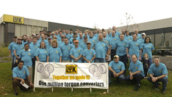 LuK USA LLC produces its one-millionth torque converter.