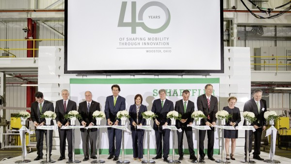 Schaeffler celebrates 40 years in Wooster and the completion of the campus' latest expansion project.