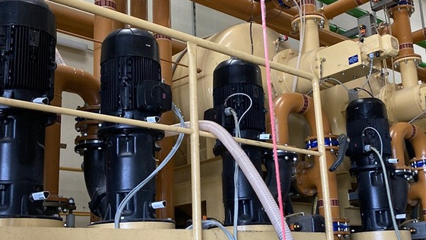 Monitoring pumps in a central supply systems